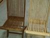 Aérogommage chaise de jardin en tek